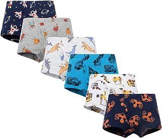 Bossail 2-7 Years Kids Soft Cotton Toddler Underwear 6-Pack Little Boys' Assorted Boxer Shorts Briefs