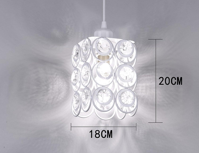 Luckyfree Pendelleuchte Zimmer Bar Cafe Restaurant Küche Flur Lampen Deckenleuchte Kronleuchter, weie rechteckige Crystal