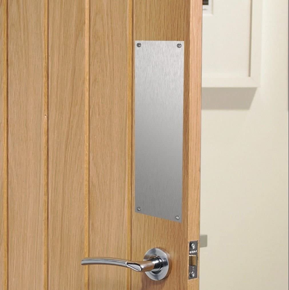 300x75mm Polished Stainless Steel Door Finger Plate