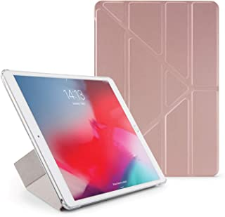 Pipetto Origami iPad Case Air 10.5 inch (2019) & Pro 10.5 inch (2017) with 5 in 1 Stand & auto Sleep/Wake Function Rose Go...