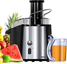 Juicer, Juicer Machines, Hilax Juice Extractor with 3'' Wide Mouth, Dual-Speed Centrifugal Juicer, Easy to Clean, Stainless Steel Juicer for Fruits and Vegetable