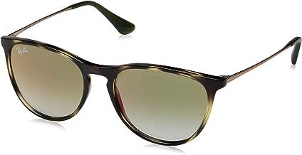 RAY-BAN JUNIOR Kids' RJ9060S Erika Kids Round Sunglasses, Havana/Green Red Gradient Mirror, 50 mm