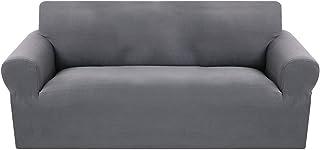 comprar comparacion SearchI Fundas Sofa Elasticas de 3 Plazas,Tejido Jacquard de Poliéster Cubre Sofa Universal contra Polvo,Extraíbles y Lava...