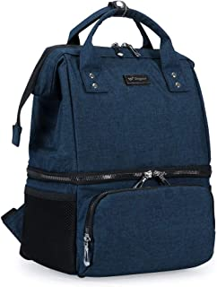 Breast Pump Backpack - Breast Pumping Bag with Cooler Pockets for Breastfeeding Working Mom(No Include Ice Pack)