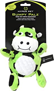 Hyper Pet Bumpy Palz Moo Cow Squeaking Plush Dog Toy