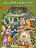 Hänsel und Gretel aus dem Märchen der Brüder Grimm Bastelbogen Hexenhaus für Kinder ab 6+ Jahre ein Lebkuchenhaus zum Ausschneiden und Basteln Papiermodelle zum Spielen