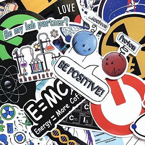JIANGGUOMIN 50 STKS Chemische Experimenten Vergelijking Hersenen Wetenschap Laboratorium Stickers Voor Laptop Skateboard Bagage Auto Styling Doodle Decals