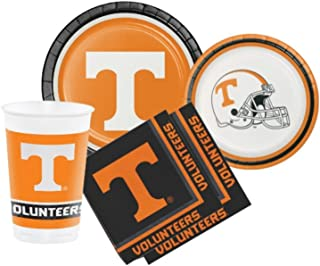 University of Tennessee Volunteers Party Supply Pack! Bundle Includes Plates Napkins & Cups for 8 Guests