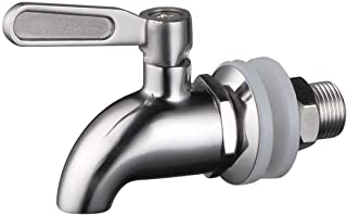 BTSKY™Stainless Steel Beverage Dispenser Replacement Spigot Fits 16mm(5/8 inch)Opening - No Lead Dispenser Replacement Faucet, Polished Finish