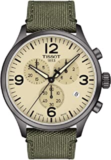 Tissot Men's Chrono XL Fabric Green Stainless Steel Watch T1166173726700