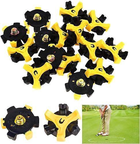 REYOK 20 Pcs Crampons Doux pour Chaussures de Golf Spike Crampons de Spikes