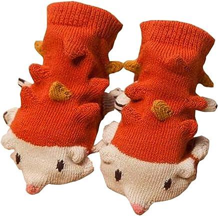 Orange Igel-Karikatur-Baby-Socken f/ür 1-12 Monate Baby EIN Paar