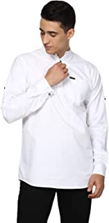 Urbano Fashion Men's Cotton Full Sleeve Casual Shirt with Mandarin Collar Slim Fit