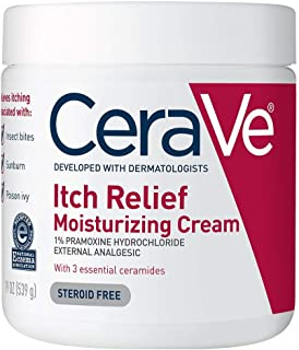 CeraVe Moisturizing Cream for Itch Relief | 19 Ounce | Dry Skin Itch Relief Cream with Pramoxine Hydrochloride | Fragrance...