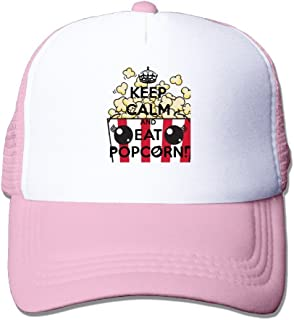 7701016a3b8 MYDT1 Unisex Keep Calm And Eat Popcorn Classic Mesh Back Trucker Cap Hat