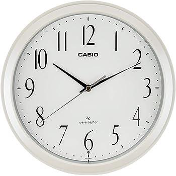 CASIO(カシオ) 掛け時計 電波 ホワイト 直径26.8cm アナログ 夜間秒針停止 IQ-1060J-7JF