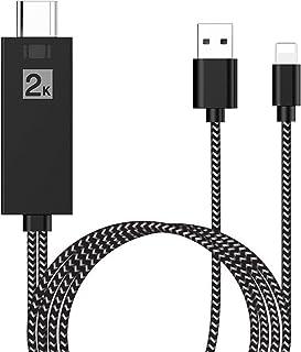 Cable HDMI para Teléfono, Adaptador HDMI 1080P HD Digital AV, Compatible con i-Phone 11/11 Pro/XS/XS Max/XR/X/8/7/6/Plus i...