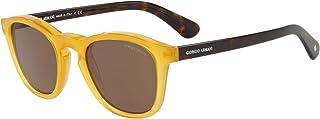 جورجيو ارماني نظارات شمسية عصرية شبه مربعة ، بني ، AR8112 502773 50