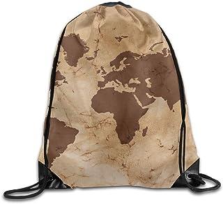 InterestPrint Unisex Duffel Bag Carry-on Bag Overnight Bag Weekender Bag Pirate Adventures Vintage World Map