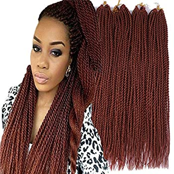 Palace hair 6Pack/LOT Senegalese Twist Crochet Hair Braids Small Easy Twist Crochet Braiding Hair 2S Senegalese Twists 14 inch 18inch 24inch 30strands/pack Hairstyles For Black Women color  14inchs 350