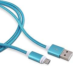 kwmobile Cable microUSB de Nylon - Cable de Carga rápida Micro USB para móvil Tablet - Cable Cargador para Samsung Sony Huawei etc en Azul de 2 M