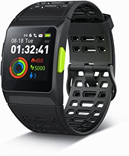 iWOWNfit GPS Running Watch, Fitness Watch, Activity Tracker ECG Watch with Heart Rate Monitor, HRV Analysis, Pedometer, Sleep, Steps Tracker with Multi-Sports Modes, IP68 Waterproof Smart Watch