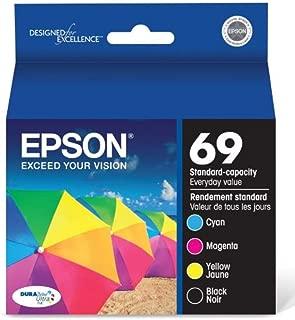 Genuine Epson 69 ink cartridges 4 Pack in Original Bulk Packaging for Epson CX6000 CX7400 CX7450 CX8400 CX9400F CX9475 NX100 NX1
