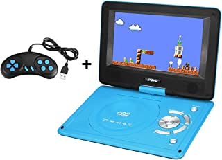 """9.8"""" Portable DVD Player with Rechargeable Battery Support AV Out & in Swivel Screen 3D Sound Used for Car Watching Movie ..."""