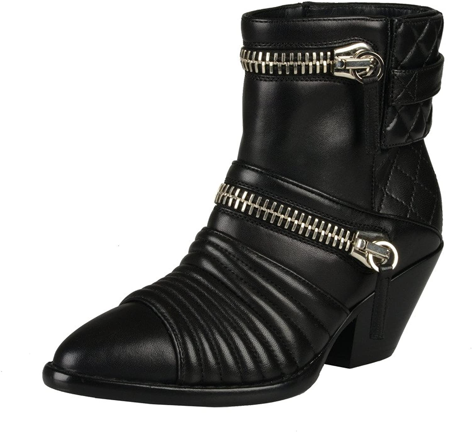 Giuseppe Zanotti Design Quilted Leather Black Ankle Boots shoes
