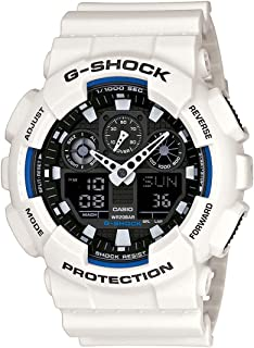 Casio Men's G-Shock GA100B-7A White Resin Quartz Watch
