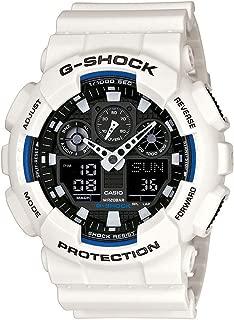 Casio G-Shock Analogue/Digital Mens White XL-Series Watch GA-100B-7A GA-100B-7ADR