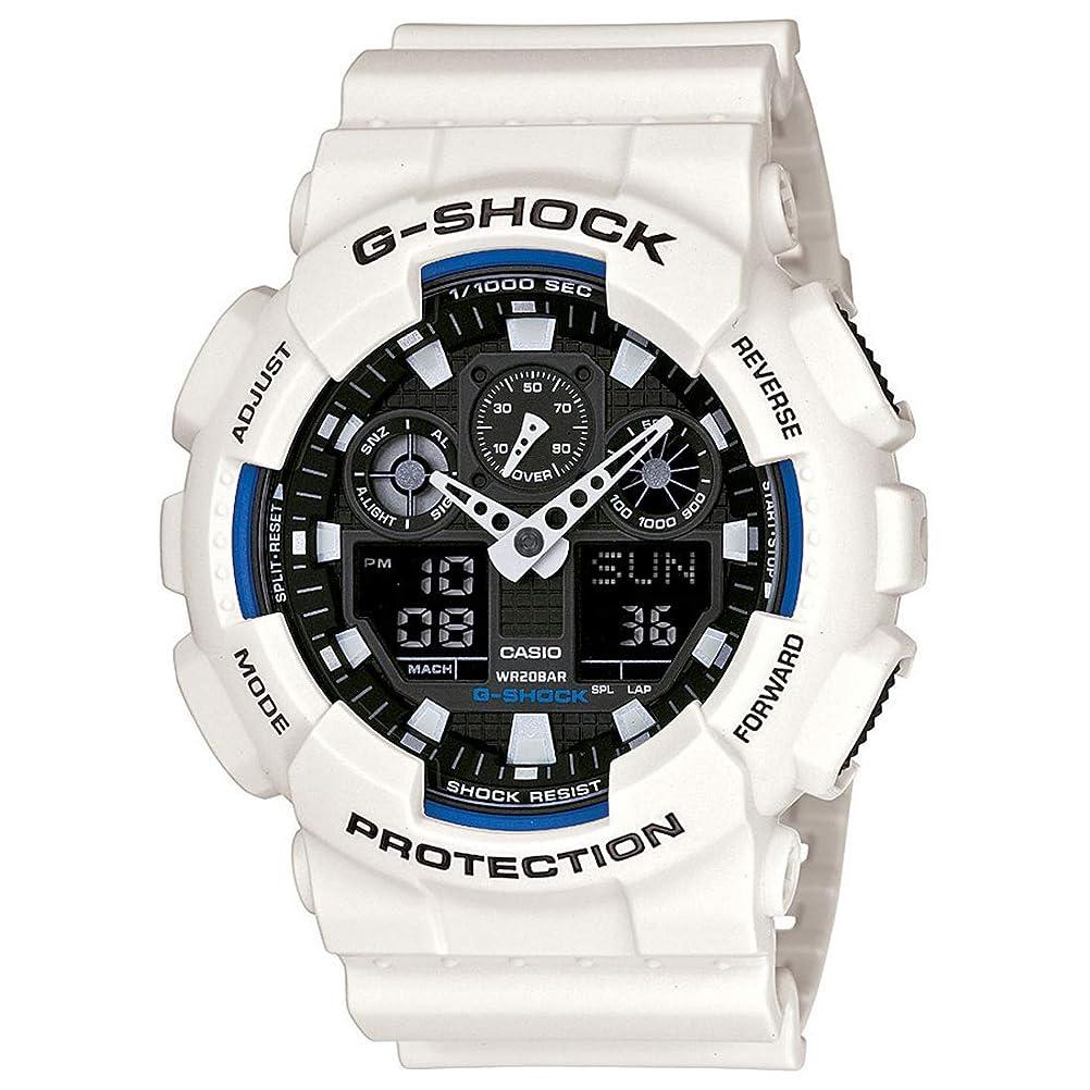 見えない定数テレマコスGショック カシオ G-SHOCK CASIO メンズ 腕時計 アナデジ 海外モデル STANDARD GA-100B-7ADR ホワイト 逆輸入品