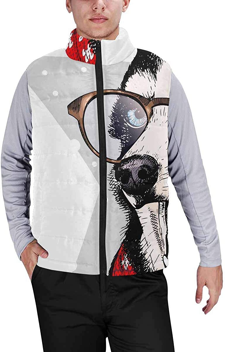 InterestPrint Warm Outdoor Sleeveless Stand Collar Vest for Men African Women in Mountain Landscape