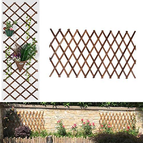 Rankgitter/Gitter Dekoration/Pflanze Klettergerüst/Holz Wand Trellis/Expanding Holzzaun/Trellis-Blumen-Dekoration Ständer (Size : H98cm)