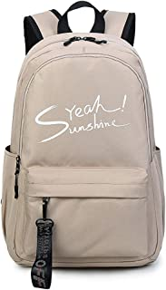Male High Capacity Multifunction Backpack Student School Bag Female Traveling Backpack Multi-Color Optional ; (Color : Khaki, Size : S)