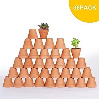 Mokof Mini Terra cotta Pot, 2 in Clay Succulent Pots for Crafts, Set of 36