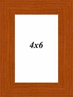 Art Street Synthetic Brown Wall/Table Photo Frame (Picture Size 4 inches X 6 inches, with Stand)