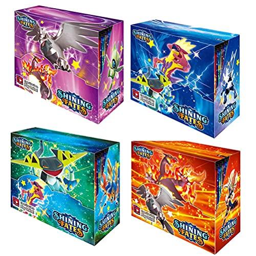 Emeili Cartas de Pokémon, Cartas de Espada Escudo, Booster Box Tarjetas Compatibles con Pokemon, Booster Display Box...