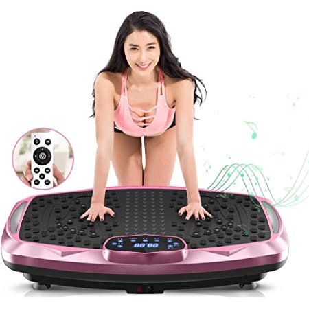 NIMTO Vibration Plate Exercise Machine Whole Body Workout Vibration Fitness Platform for Home Fitness & Weight Loss + BT + Remote, 99 Levels