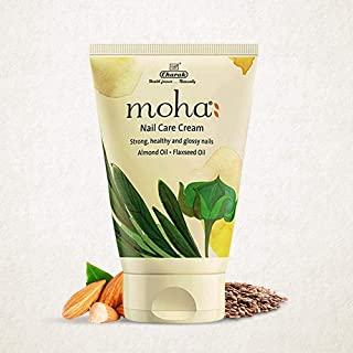 moha: Nail Care Cream (100 g) For Cuticle Care, Nail Growth & Strength With Goodness of Almond Oil & Flexseed Oil   Soft, ...