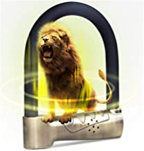 Motorcycle Lock met Alarm Lock, Elektrische auto Lock anti-diefstal Lock Anti-Hydraulische schaar U-Lock, U-vormige Lock, ...