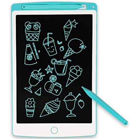 with Stylus Suitable for Kids and Adults at School Office Portable Handwriting Notepad 10 Inch LCD Writing Tablet Toys Color : White Electronic Drawing Board Gifts Graffiti Painting
