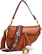 Anich Women Designer Saddle Shoulder Bag Top Handle Tote Handbag Crossbody Purse