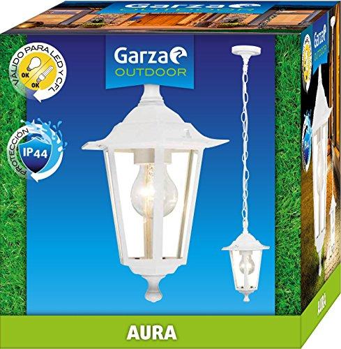 Garza Aura wandlamp, E27, wit en blauw, 22 x 22 x 17 cm