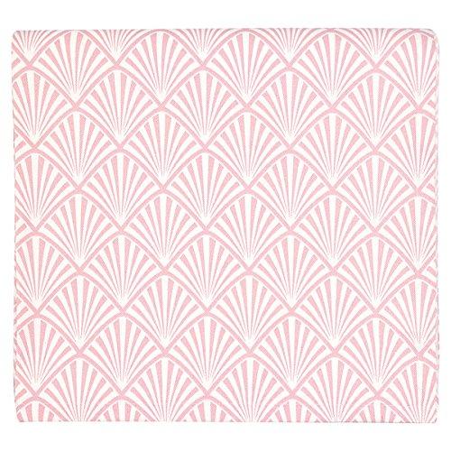 GreenGate Gate Noir - Tischdecke, Tischtuch, Decke - Celine Pale Pink - 100% Baumwolle - 145 x 250 cm - mit Art Deco Muster