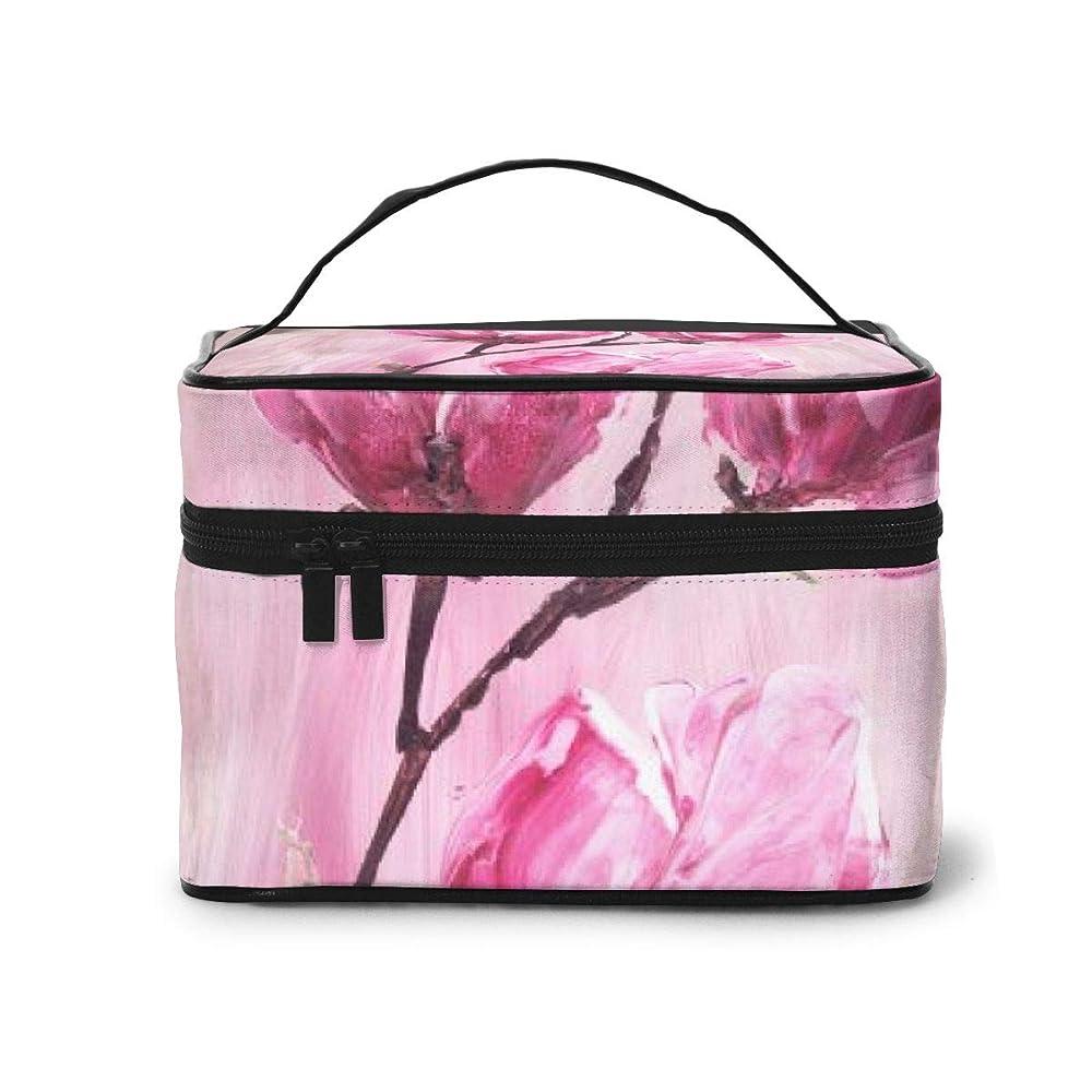 百手段ホラーメイクポーチ 化粧ポーチ コスメバッグ バニティケース トラベルポーチ 花 ピンク 雑貨 小物入れ 出張用 超軽量 機能的 大容量 収納ボックス