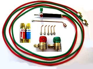 Devardi Glass Jewelers' Micro Torch Kit w/Regulators, Flash Arrestors, Rosebud, 5 tips, For Disposable Tanks