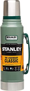STANLEY Legendary Classic 1.0L Hammertone Green 18/8 Stainless Steel Double-Wall Vacuum Insulation Water Bottle Leakproof + Packable Naturally Bpa-Free, 1 L