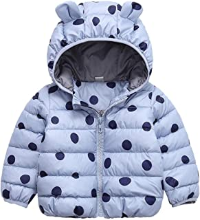 iLOOSKR 2-15M Newborn Toddler Baby Boys Girls Winter Warm Lovely Zipper Romper Jumpsuit Thickened Outfit