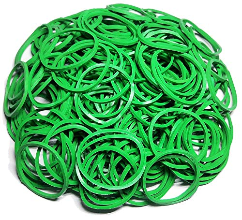 200Pcs 1 25mm Small Rubber Bands Multicolor Bulk Elastic Wide Money Colorful Rubber Bands Ring Stationery Holder Sturdy Strong Stretchable Band Loop School Home Bank Office Supplies (Green)